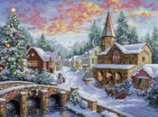 Holiday Village - Gold Collection Counted Cross Stitch Kit