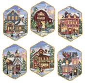 Christmas Village Ornaments - Gold Collection Counted Cross Stitch Kit