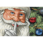 Santa's Secret - Gold Petites Counted Cross Stitch Kit