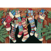 The Stockings Were Hung - Gold Petites Counted Cross Stitch Kit