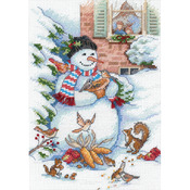 Snowman & Friends - Gold Petites Counted Cross Stitch Kit