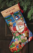 Santa's Toys Stocking - Gold Collection Counted Cross Stitch Kit