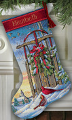 Christmas Sled Stocking - Gold Collection Counted Cross Stitch
