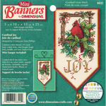 "10"" Long 14 Count - Banners Cardinal Joy Mini Counted Cross Stitch Kit"