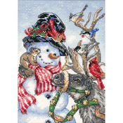 Snowman & Reindeer - Gold Petites Counted Cross Stitch Kit