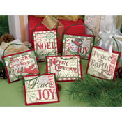 Christmas Sayings Ornaments Counted Cross Stitch Kit