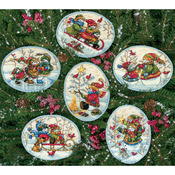 Playful Snowman - Gold Collection Ornaments Counted Cross Stitch