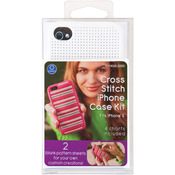 White - iPhone 5 Case Counted Cross Stitch Kit