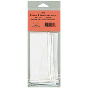 "White - Linen Handkerchief 11""X11"" Single Spoke"