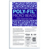 Poly - Fil Micro Beads-20oz FAIRFIELD-Poly-Fil Micro Beads.  Micro Beads are made of 100% mini virgin expanded polystyrene beads. These beads are used in some of the most popular decorative pillows on the market today.  Use this filler for stuffed animals, pillows, pet beds and craft projects. The advantage of using micro beads is the softer, smoother feel to anything you fill with them.   This package contains 20oz: approximately 1/2 cubic foot.  Made in USA.