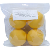 "Bright Gold - Satin Balls 3"" 4/Pkg"