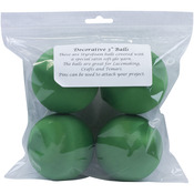 "Christmas Green - Satin Balls 3"" 4/Pkg"