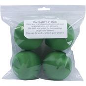 "Christmas Green - Satin Balls 3"" 4/Pkg"