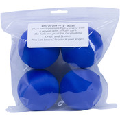 "Dark Blue - Satin Balls 3"" 4/Pkg"