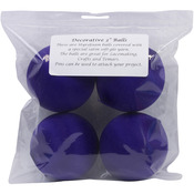"Dark Purple - Satin Balls 3"" 4/Pkg"