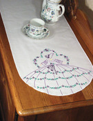 "Somba Lady - Stamped Perle Edge Dresser Scarf 15""X42"""