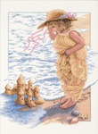 "11""X14"" 14 Count - Sandcastle Dreams Counted Cross Stitch Kit"