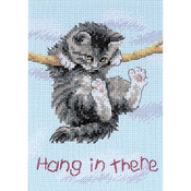 "5""X7"" 14 Count - Jiffy Hang On Kitty Mini Counted Cross Stitch Kit"