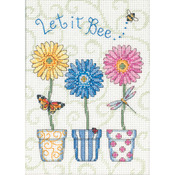 "5""X7"" 14 Count - Jiffy Let It Bee... Mini Counted Cross Stitch Kit"