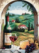 "12""X16"" Stitched In Floss - Tuscan View Needlepoint Kit"