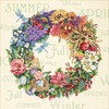 "14""X14"" 18 Count - Gold Collection Wreath Of All Seasons Counted Cross Stitch K"