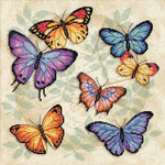 """11""""X11"""" 14 Count - Butterfly Profusion Counted Cross Stitch Kit"""