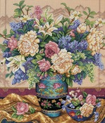 """12""""X14"""" 18 Count - Gold Collection Oriental Splendor Counted Cross Stitch Kit"""