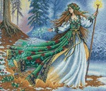 """14""""X12"""" 16 Count - Gold Collection Woodland Enchantress Counted Cross Stitch Ki"""