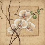 """12""""X12"""" 14 Count - Oriental Orchids Counted Cross Stitch Kit"""