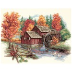 "14""X11"" 14 Count - Glory Of Autumn Counted Cross Stitch Kit"