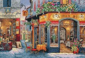 """16""""X11"""" 16 Count - Gold Collection European Bistro Counted Cross Stitch Kit"""