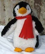 "15"" Tall - Huggables Penguin Stuffed Toy Latch Hook Kit"