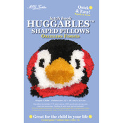 "12""X10"" - Huggables Penguin Pillow Latch Hook Kit"