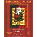 "Santa & Tree - Latch Hook Kit 28""X36"""