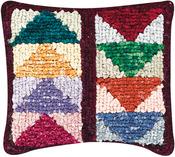 "Flying Geese - Quilt Mates Locker Hook Pillow Kit 12.5""X14"""