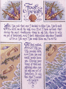 "10-1/2""X14"" 28 Count - Footprints Counted Cross Stitch Kit"