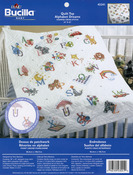 "Alphabet Dreams - Stamped Cross Stitch Baby Quilt Top 34""X43"""