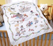 """34""""X43"""" - Mary Engelbreit Mother Goose Crib Cover Stamped Cross Stitch"""