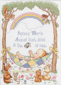 Our Little Blessing Birth Record Counted Cross Stitch Kit