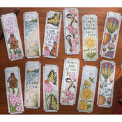 "Inspired By Nature Bookmarks Counted Cross Stitch Kit-2-1/2""X8"" 14 Count Set Of"