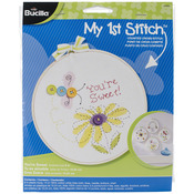 """6"""" Round 14 Count - My 1st Stitch You're Sweet Mini Counted Cross Stitch Kit"""