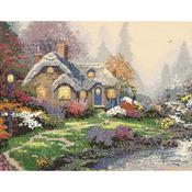 "14""X11"" 14 Count - Thomas Kinkade Everett's Cottage Counted Cross Stitch Kit"