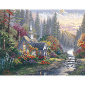 """14""""X11"""" 14 Count - Thomas Kinkade Forest Chapel Counted Cross Stitch Kit"""