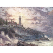 "16""X12"" Printed - Thomas Kinkade Clearing Storms Embellished Cross Stitch Kit"