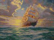 "16""X12"" 16 Count - Thomas Kinkade Courageous Voyage Counted Cross Stitch Kit"