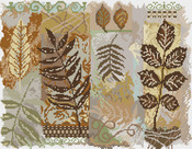 "14""X11"" 14 Count - Abstractions Leaves Counted Cross Stitch Kit"