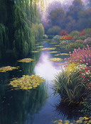 """16""""X12"""" 16 Count - View From Monet's Bridge Counted Cross Stitch Kit"""