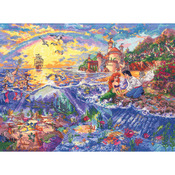 """16""""X12"""" 18 Count - Disney Dreams Collection By Thomas Kinkade Little Mermaid"""