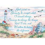 "7""X5"" - Serenity Prayer Mini Stamped Cross Stitch Kit"