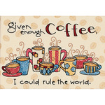 "7""X5"" - Enough Coffee Mini Stamped Cross Stitch Kit"